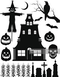 halloween vector art halloween silhouettes vector art getty images