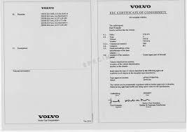 volvo eu certificate of conformity coc volvo