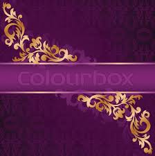 purple banner with a gold ornate ornaments stock vector colourbox