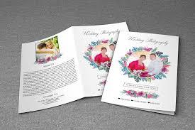 Bi Fold Wedding Program Wedding Photography Brochure Bi Fold Brochure Templates
