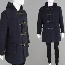 vintage 60s 70s mens duffle coat navy from zeusvintage on etsy