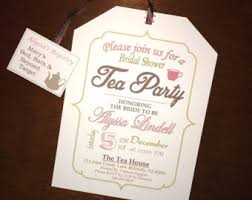 tea party bridal shower invitations tea party bridal shower invitation diy digital file