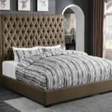 Eastern King Comforter King Fabric Wood Headboard Platform Bed Frame With Storage Irvine