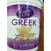 dannon light and fit nutrition dannon light fit greek yogurt non fat vanilla calories