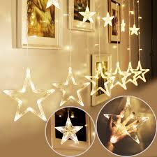 drop down christmas lights 138 led star twinkle christmas display party wedding curtain window