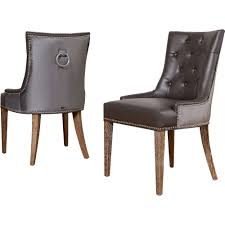 Gray Leather Dining Room Chairs Decor Make Your Dining Room More Chic With Tufted Dining Chair