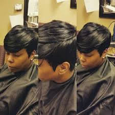 27 piece black hair style sew in 27 piece with a invisible part short hair style turning