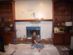 painting a brick fireplace image how to painting a brick