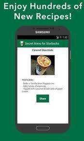 starbucks apk secret menu for starbucks apk free food drink app for