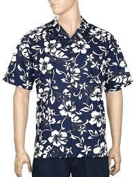 classic hibiscus pareo aloha shirt shaka time hawaii clothing store