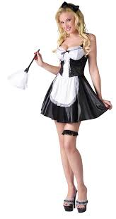 French Maid Halloween Costumes French Maid White Feather Duster Costume Craze