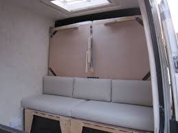 custom made sofa bench cushions around the world in a campervan