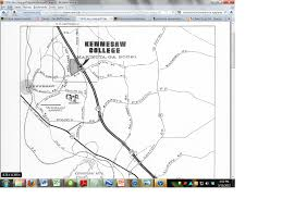 Ksu Map 1976 Map Of Kennesaw Environmental History Archive Project
