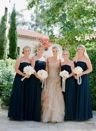 navy blue bridesmaid dresses trendy bride magazine