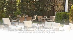 Wicker Patio Conversation Sets Cosco Outdoor 4 Piece Lakewood Ranch Steel Woven Wicker Patio