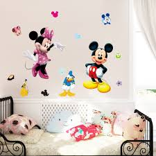 mickey mouse cartoon wall stickers for kids room decorations movie