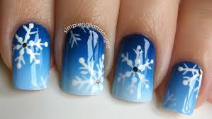 snowflake nail art tutorial youtube