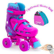 roller skates with flashing lights sfr lightning hurricane adjustable quad roller skates light up