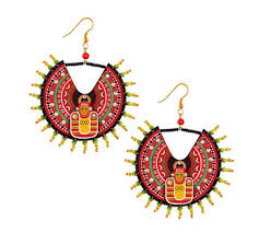 kerala earrings buy razia kunj kerala traditional mask medium circular wood