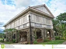 Spanish Colonial House by Old House Of A Wealthy Family In The Philippines During The