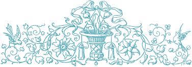 domain illustrations ornamental birds scrolls the