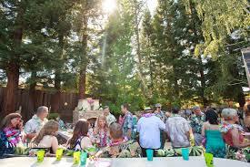 a backyard wedding luau u2022 two irises