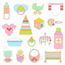 care baby shower vector newborn goods baby shower concept newborn goods in
