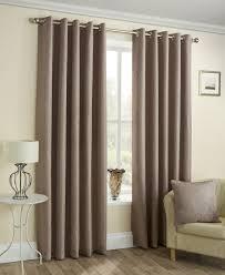 Eyelet Curtains Homemaker Malvern Coffee Green Natural Silver Semi Plain Textured