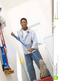 man with mop cleaning house stock images image 29651764