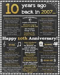 tenth anniversary ideas 10th anniversary gift 10th anniversary poster 10th wedding