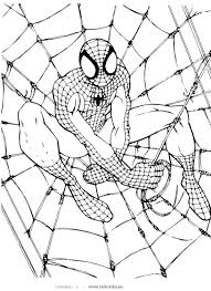 coloring lovely spider man color coloring spider