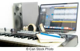 bureau studio musique studio fonctionnement bureau musique noir casque images
