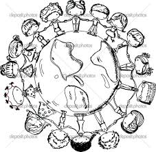 earth coloring pages children of the world page around educations
