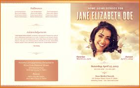 Memorial Program Template 8 Free Funeral Program Template Authorizationletters Org