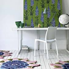 very beautiful relaxing home office design idea with pretty flower