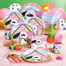 themed party supplies playful puppy pink party supplies this stuff choosing