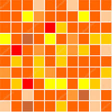 seamless tiles background different shades of orange colour