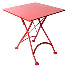 metal folding table outdoor amazon com mobel designhaus french café bistro folding table flame