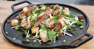 salicorne cuisine recette de salade de céleri salicorne pétoncles et