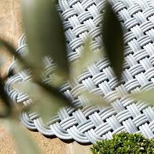 Outdoor Rug Material New Outdoor Rug Mat Shore Rug Basket Weave Cord Knot Texture Woven