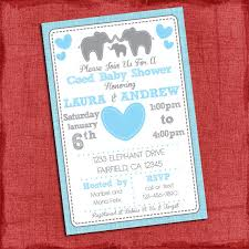 baby shower coed elephant baby shower invitation theme coed couples baby shower