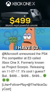 Xbox One Meme - 25 best memes about xbox one x xbox one x memes