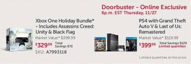 ps4 on black friday price ps4 gta 5 the last of us u003d 400 at dell on black friday gamespot