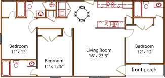 floor plans 3 bedroom 2 bath floor plans trails end