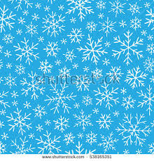 hand drawn winter sketch snowflakes seamless stock vector