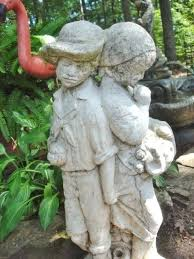antique concrete garden statues reclaimed garden ornaments