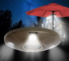 Patio Umbrellas With Led Lights by Patio Mate Led Umbrella Light With Bluetooth Speakers Page 1