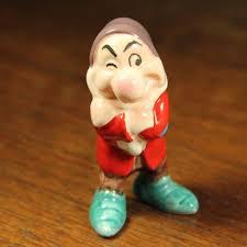 vintage disney japan grumpy figurine ceramic snow white 2 75