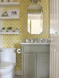 Gray Yellow Bathroom - imperial trellis stencil contemporary bathroom benjamin