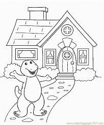 barney 27 coloring free barney coloring pages